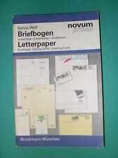 WOLF BRIEFBOGEN LETTERPAPER NOVUM PRESS