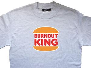 Burnout King Drifting Drift JDM T Premium Shirt T-shirt 100% Cotton Classic