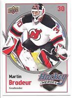 MARTIN BRODEUR 09-10 Upper Deck HOCKEY HEROES #HH15