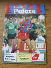 12/10/1988 Crystal Palace v Swindon Town [Football League Cup] . Item In very go