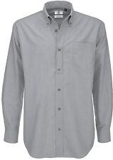 b&c Hombre Camisa Manga Larga Oxford Talla especial S M L Xl Xxl 3xl 4xl 5xl