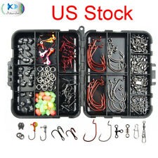 150Pcs Fishing Accessories Kit Jig Head,Hooks,Sinker,Swivel Snap Fishing Tackle
