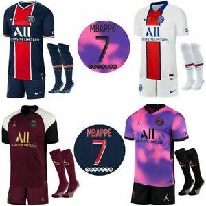 20/21 Paris Saint Germain Erwachsene Kinder Full Kits Trikot *