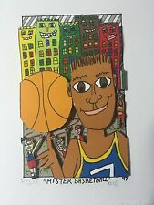 "James Rizzi: original 3D, ""MR BASKETBALL"", FUNNY FACES, handsigniert VERGRIFFEN"