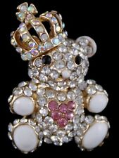 Venetti Diamante Teddy Bear  Brooch . Jewellery Badge