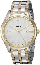 Versace Men's V10070015 Apollo Stainless Steel Roman Numeral Date Two Tone Watch