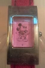 Disney Store Mickey Mouse Watch w/ Pink Cloth Band