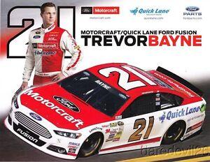 2014 Trevor Bayne Motorcraft Ford Fusion NASCAR Sprint Cup postcard