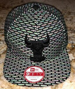 NEW ERA Chicago Bulls Hooks Multi Snapback Flat Bill Baseball Cap Hat NEW OSFM