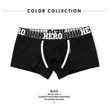 PINK HERO Mens Underwear Boxer Briefs Shorts Bulge Pouch Cotton Underpants Trunk