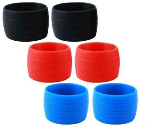1 X PAIR SILICONE RUBBER HANDLE BAR TAPE SECURING RINGS