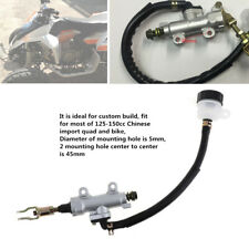 Rear Brake Master Cylinder Powerful W/Fluid Reservoir for Pit Dirt Quad ATV Bike