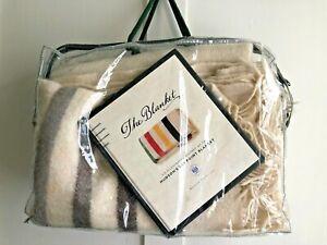 HUDSON'S BAY Caribou Throw/Blanket. MILLENIUM STRIPE. 100% WOOL. + Bag & Book.