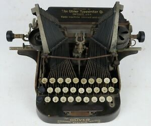 FOR PARTS/REPAIR Antique Oliver Standard Visible Writer No. 3 Typewriter Chicago