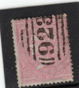 GB. QV. 4d CARMINE SG;66a USED 923 WORTHING CANCEL CAT. £150 SEE SCANS