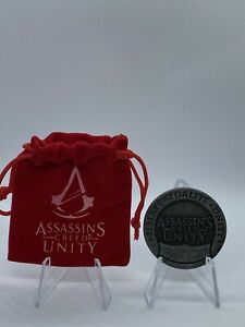 Assassins Creed Unity Collectible Metal Coin Loot Crate Exclusive New In Pouch