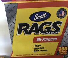 Scott Rags In A Box 300 Towels Strong Absorbent Multi-purpose