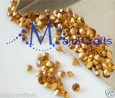 60pcs Topaz Brown ss29 6mm Point Back Glass Chatons Jewellery Rhinestones Gems
