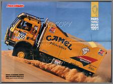 POSTER CAMION DAKAR 1991 MERCEDES 1935 4X4   56X42cm