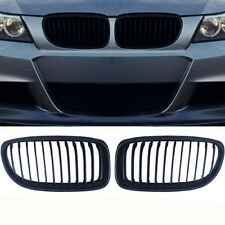 Fit 09-11 For BMW E90 E91 LCI 325i 328i 4D Front Kidney Grill Grille Matte Black
