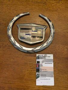 "6"" Cadillac Front Grille Emblem Gloss Black Escalade CTS STS DTS SRX XLR"