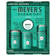 Special Edition! Mrs. Meyer's Clean Day 3 Pack-Mint, Cleaner, Hand Soap, Dish