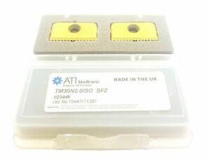 x2 ATI Stellram TM30N 2.0ISO Carbide Inserts SFZ Thread Milling Tips #VB5