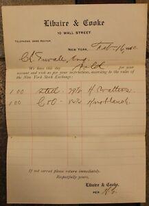 1910 Stock Solde Réception, New York Exchange 100 Shares De Acier Vendu ~# 822C
