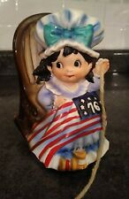 VINTAGE FRED ROBERTS CO. JAPAN MUSIC BOX ROCKING BETSY ROSS BICENTENNIAL 1976