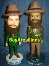 2 San Jose Sharks Brent Burns Gameday & Camo Suit bobblehead SGA SJ Bobble