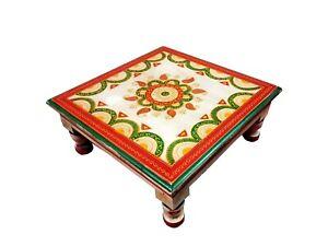 Bunt Holz Bajot Bemalt Chowki Handwerk Sockel Holz Tisch Für Puja