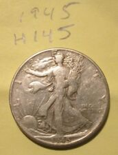 H145H1018 - Silver Walking Liberty Half Dollar 1945 - Free Shipping