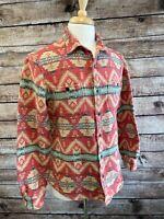 Ralph Lauren Denim Supply Aztec Button Front Shirt Size L RRL Navajo