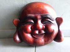masque Bouddha en bois-chine-asie-japon-nepal-tibet-asiatique-indonesie-ancien