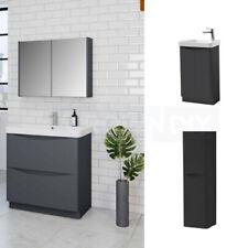 ANTHRACITE GREY Bathroom Vanity Unit Basin Storage Tall Drawer Cabinet Toilet
