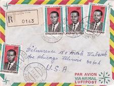 * CONGO - Envelope 1968 - Pointe Noire Cite, 4x30F.President Massamba Debat