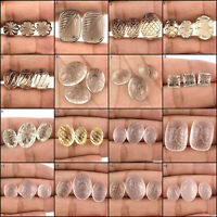 Natural Quartz AAA Super Quality 3 Pcs Set Carved Gems Many Shapes & Sizes