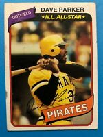1980 TOPPS BASEBALL PITTSBURGH PIRATES N.L. ALL STAR CARD DAVE PARKER #310