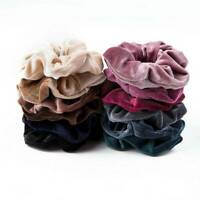 12x Women Girl Velvet Hair Scrunchies Hair Ties Elastic Hair Band Ropes Headband