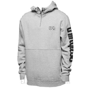 THIRTYTWO thirty-two Mens 2018 - Stamped Hooded Pullover Sweater - Grey/Heather