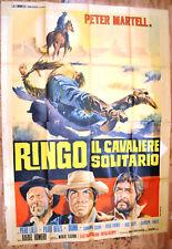 MANIFESTO ORIGINALE RINGO IL CAVALIERE SOLITARIO 68 MARCHENT LULLI WESTERN