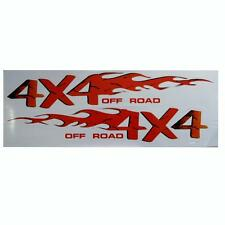 2 Unidades 4x4xf Carretera Autoadhesivo Color Insignias De Coches Pegatinas