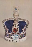 """*Postcard-""""Imperial State Crown"""" /George VI in 1937/ -Picture on Postcard- (#40)"""