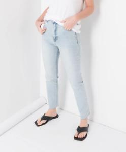 Jeans elasticizzati skinny donna vita alta push up pantaloni nuovi chiaro 36 XS