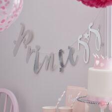 Silver Princess Garland / Bunting Party Backdrop -Ginger Ray Birthday Decoration