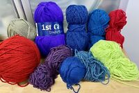 Lot-550g Strong Bright Colours Knitting Yarn-Double Knitting-Crafts-Old Stock-Z1