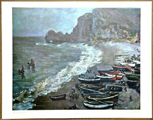 Claude Monet   Boats at Argenteuil  1st Limited Edition Original 1960 Lithograph
