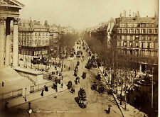 Original-photo, gr. ca 1880, Francia, París, Boulevard de la madeleine
