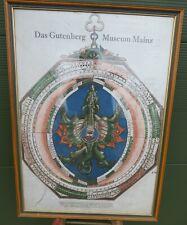 Large Vintage Gutenberg Museum Mainz Poster Print, Peter Apian Image