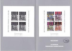 Ö 2000 Hundertwasser Block mit Schwarzdruck in Ersttag Folder ANSEHEN